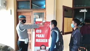 Kanit Provos Polsek Pameungpeuk Polresta Bandung, Tingkatkan Prokes 5M Kepada Personilnya