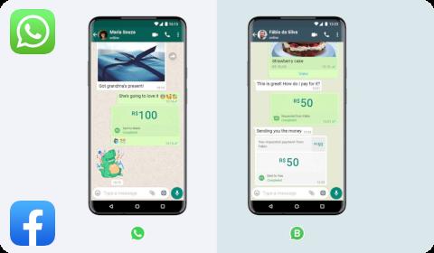 Paiement sur WhatsApp au Brésil