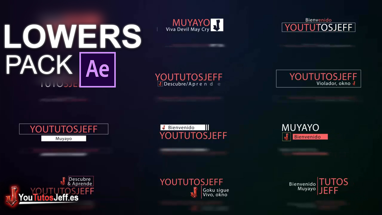Pack de Lowers Editables con After Effects para tus Vídeos