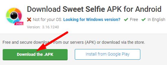 Sweet Selfie किस देश का app है