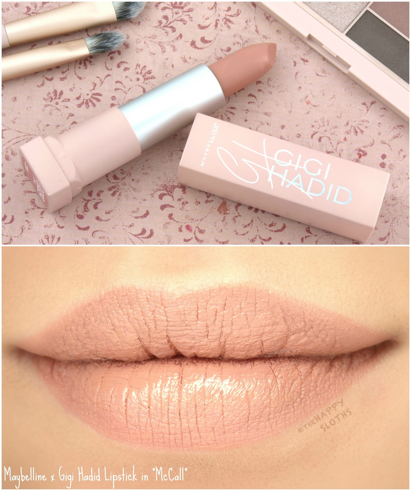 """Maybelline x Gigi Hadid Lipstick in """"McCall"""": Review and Swatches"""
