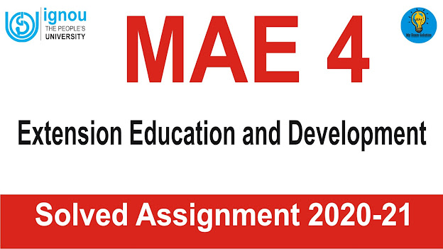 MAE 4 Extension Education and Development