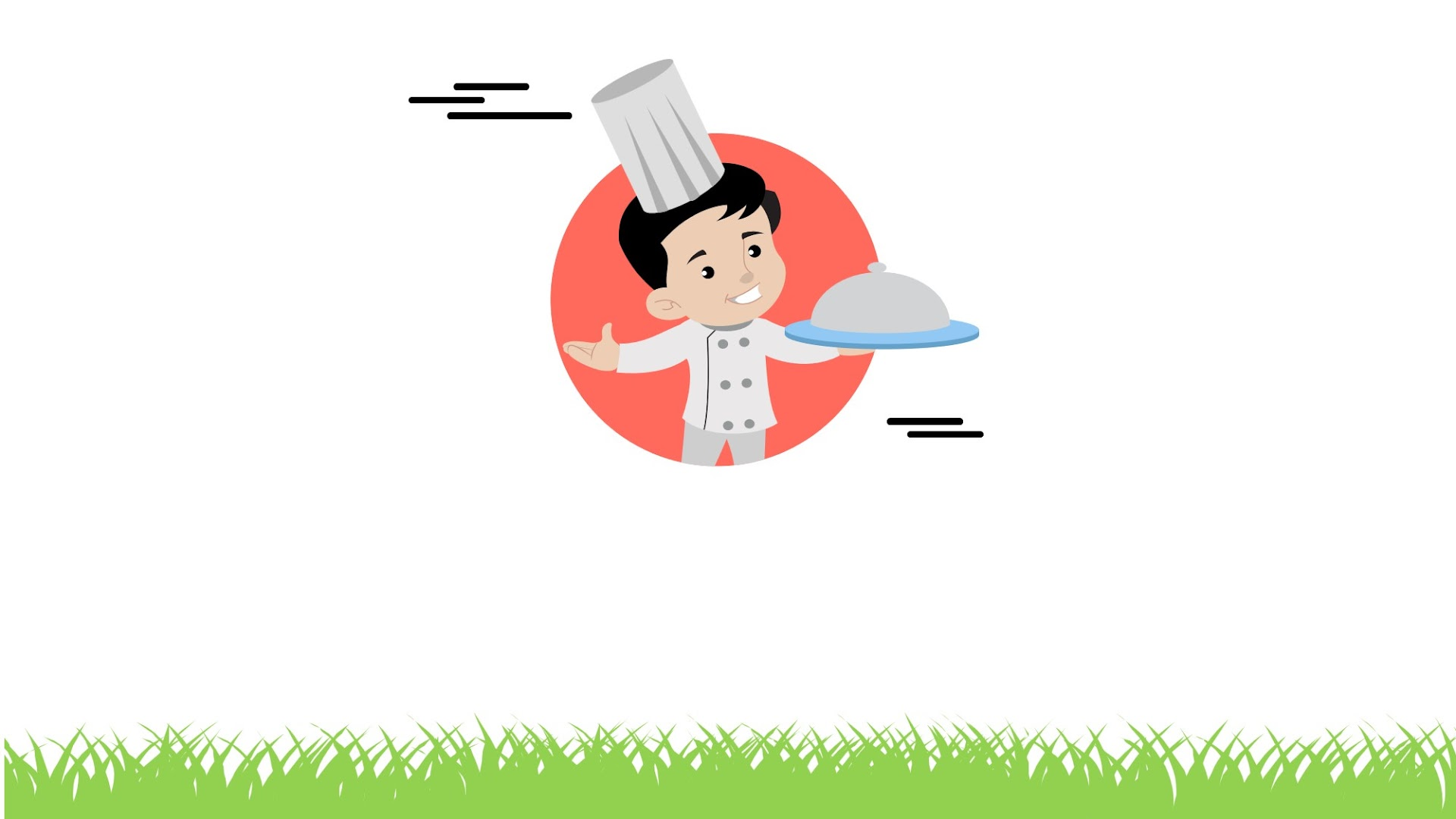 Cartoon chef - free background for Presentations