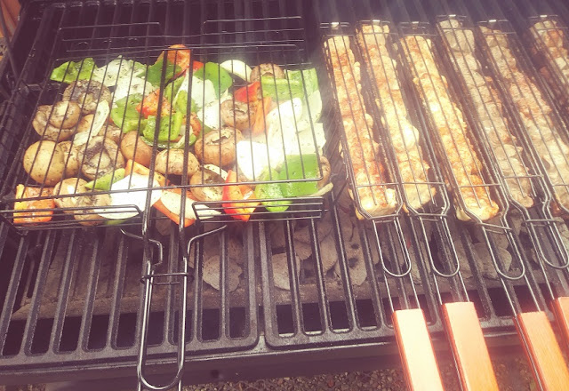 Shish Kabob Grilling Baskets