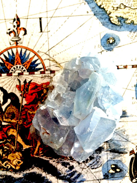 Celestite Cluster by Dominique Allmon©2016