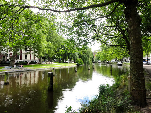 Canal surrounded by trees in Amsterdam | Netherlands, Europe