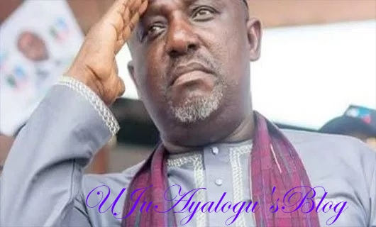Governor Okorocha's Statue Brought Down By Imolites In Owerri (Photo)