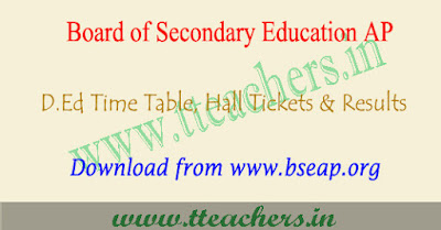 AP Ded time table 2018, ap d.ed 2nd year exam dates 2018