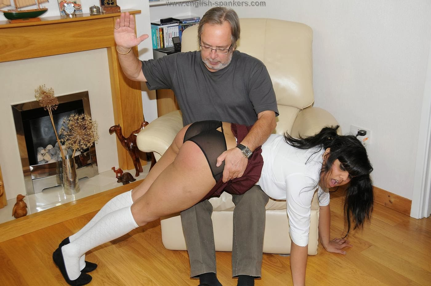 New girl punished by butler and anal whore