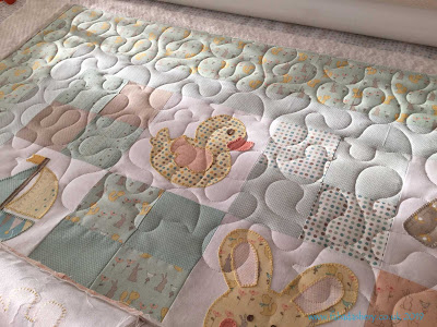 Baby Duck quilt made by Penny