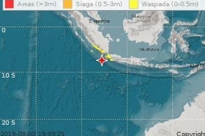Gempa Bumi 7.4 SR Berpotensi Di Wilayah Sumatera dan Jawa