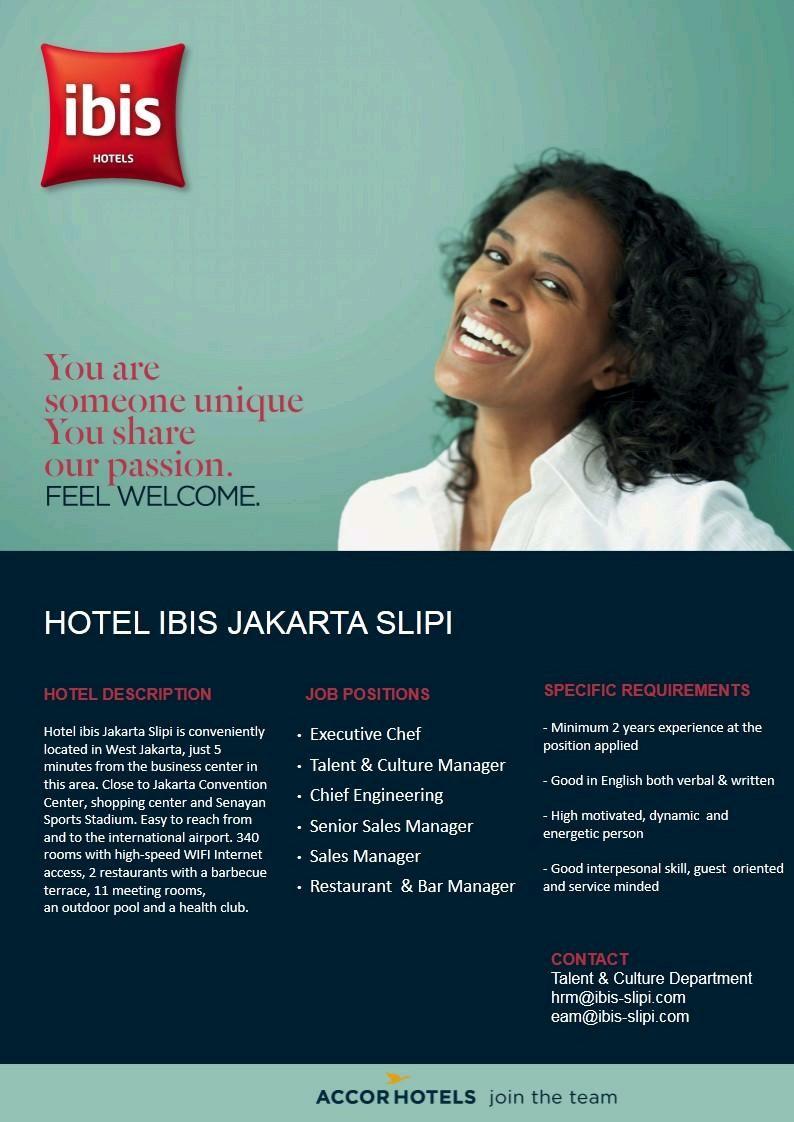 Lowongan Kerja Hotel Ibis Jakarta Slipi Lowongan Kerja Hotel