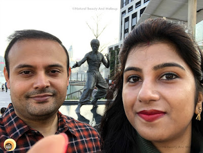 Nabendu and Anamika at the Avenue of Stars, Tsim Sha Tsui Promenade, Hong Kong