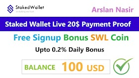 StakedWallet.io - Earn Free Bitcoin 2020 Live Withdraw Payment Proof 20 Usd Full Explain Urdu Hindi