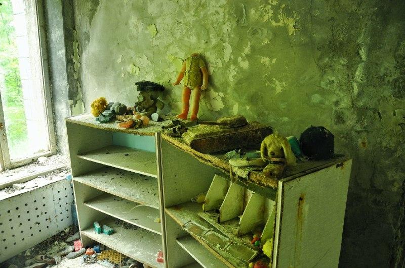 В одному з колишніх дитячих садочків Прип'яті