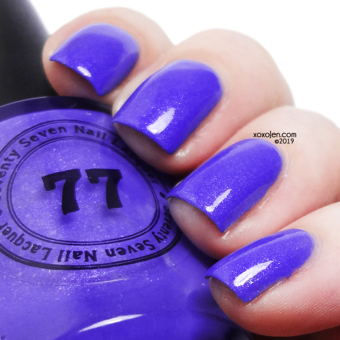xoxoJen's swatch of 77 Nail Lacquer Riot Grrrl