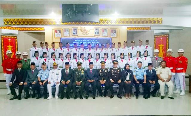 Kapolres Lampung Utara Hadiri Pengukuhan Anggota Paskibraka