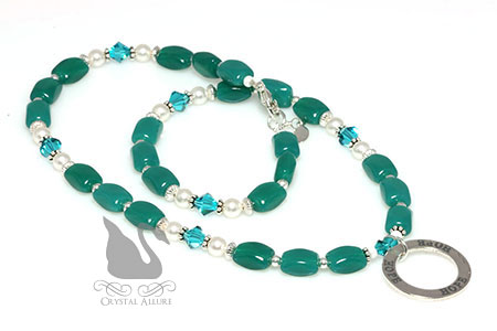 Circle of Hope Teal Ovarian Cancer Awareness Necklace (N134)