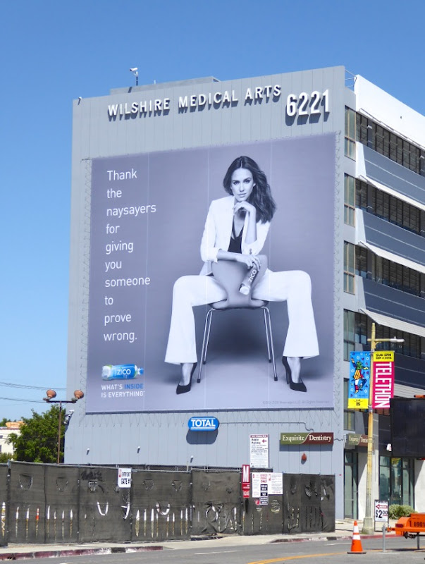 Giant Zico Coconut Water Jessica Alba billboard