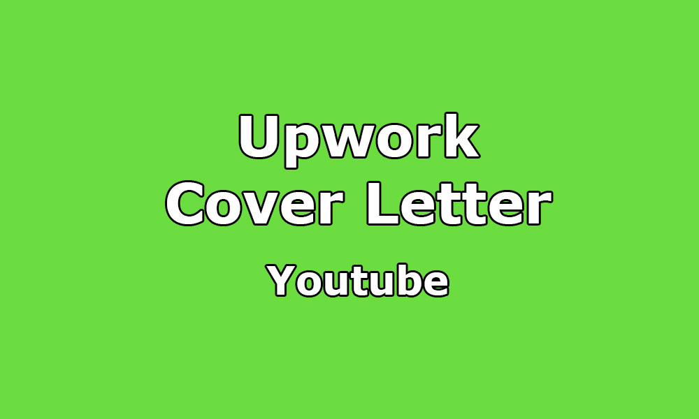 Cover Letter Sample for YouTube / Video Marketing - Upwork Help - marketing cover letters