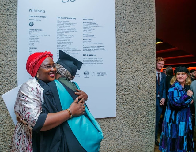 Aisha Hanan Buhari and mum