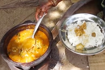 Grandma Traditional Goat Intestine Recipe | Cooking in My Village | VILLAGE FOOD