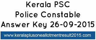 Kerala PSC Police Constable answer key 26-09-2015, Download psc armed police battalion solved paper today 26-09-2015, Download Kerala PSC answer key Police constable 26-09-2015, brilliance college answer key kerala psc police constable