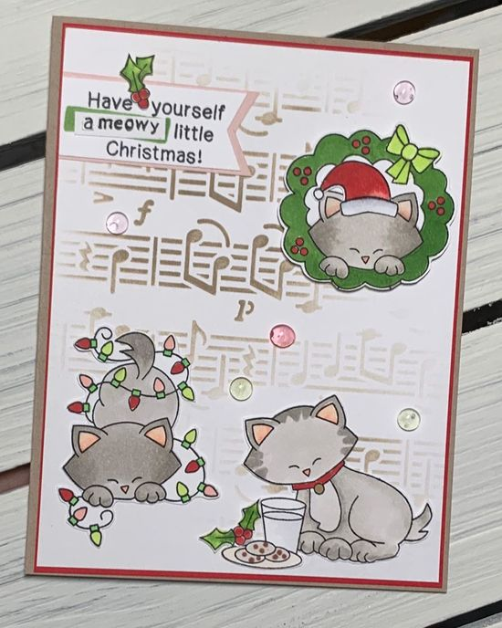 Have yourself a meowy little Christmas by Kimberly features Music and Newton's Holiday Mischief by Newton's Nook Designs; #newtonsnook