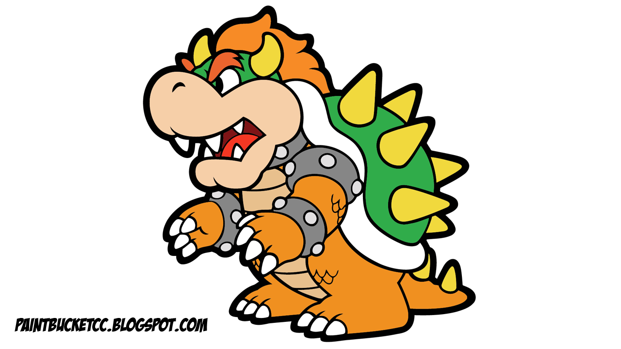 You Can Watch How I Colored In The Paper Mario Bowser Coloring Page To Create Clipart On My YouTube Channel Check Previous Blog Post Stay