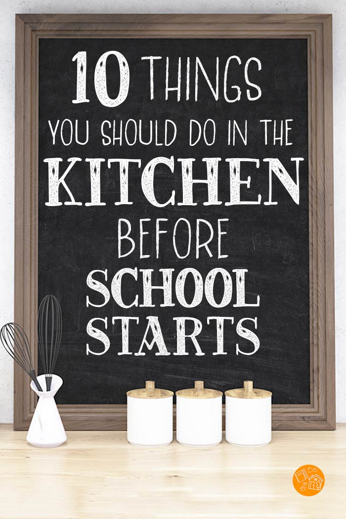 Get your kitchen organized now to make back to school easier! Love these tips on how to organize your kitchen for the school year. Lunch hacks, school morning ideas, meal planning tips and so much more. #backtoschool #organized #kitchen #homeorganizing
