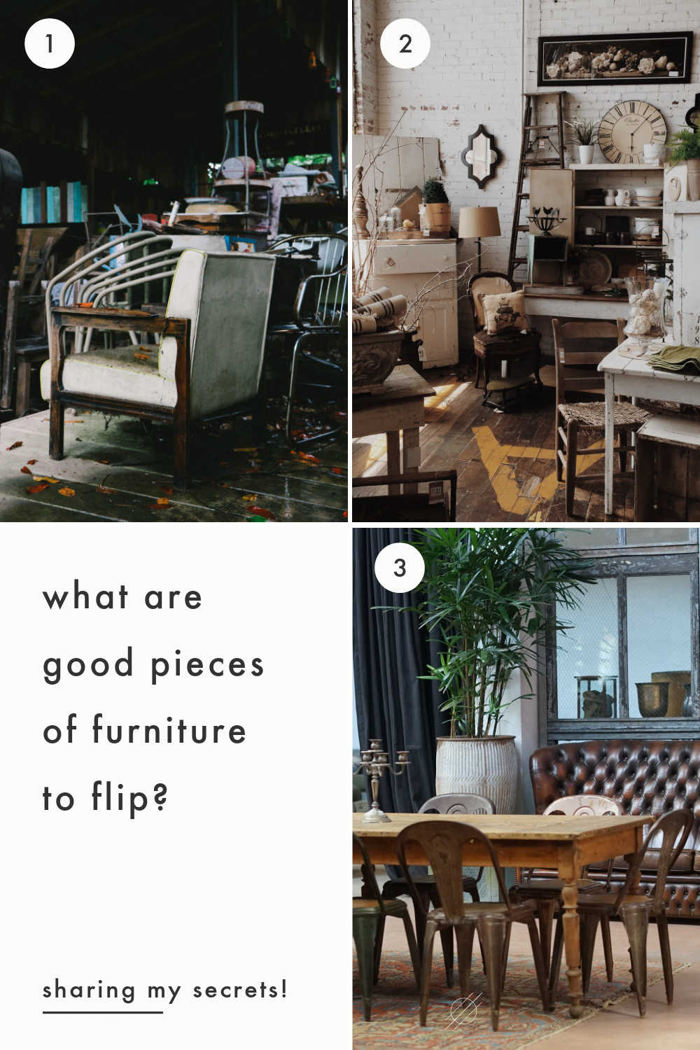 pieces of furniture to flip