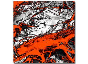 orange art, abstract art, large wall art, contemporary art, artwork, artist, USA, New York, Sam Freek, industrial,