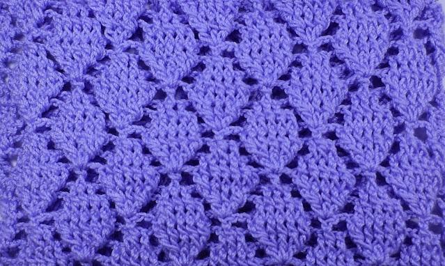 5 - Crochet Imagen Puntada de hojas a relieve rectas a crochet y ganchillo por Majovel crochet