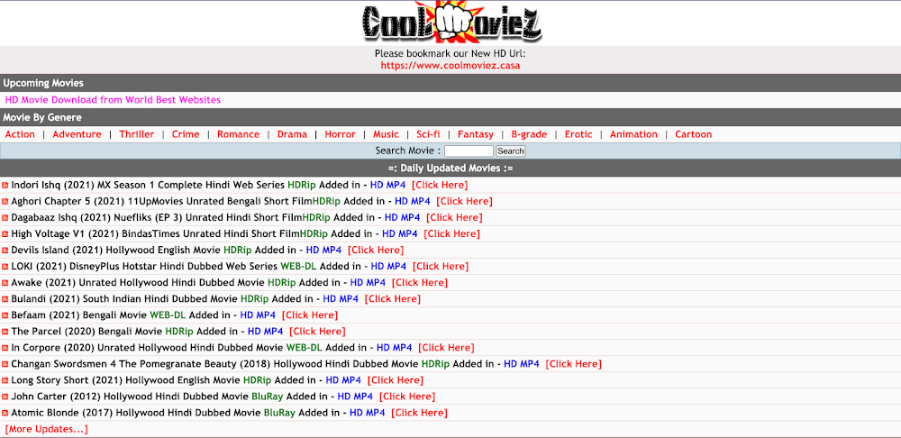 Coolmoviez Website 2021 - Best Free MP4 Movie Download Website For Mobile, Tablets and PC