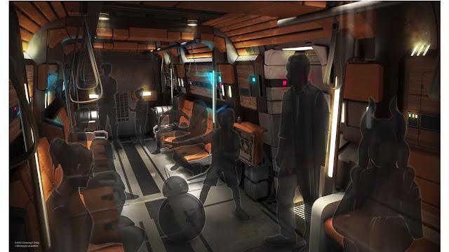 Star Wars Galactic Starcruiser Transport Pod Vehicle Concept Art