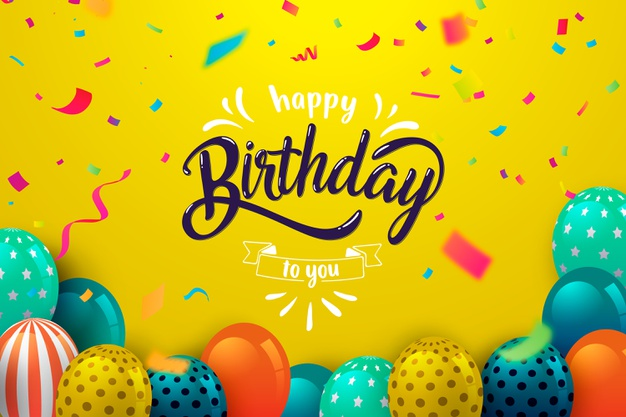 Lettering happy birthday Free Vector