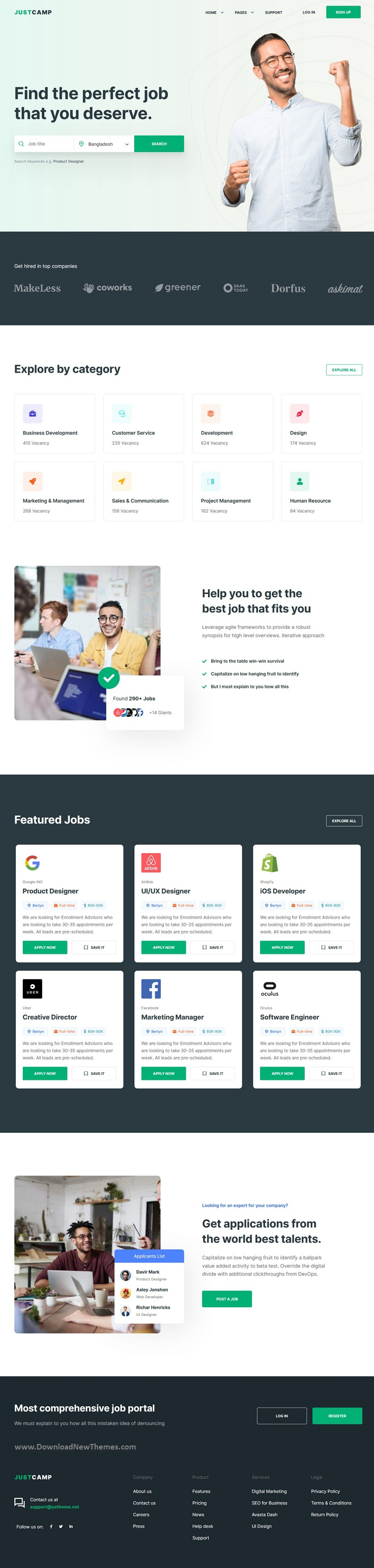 Job Board & Directory Template