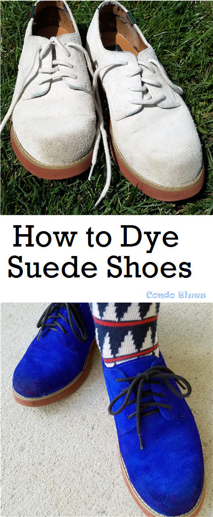 how to redye suede shoes a new color