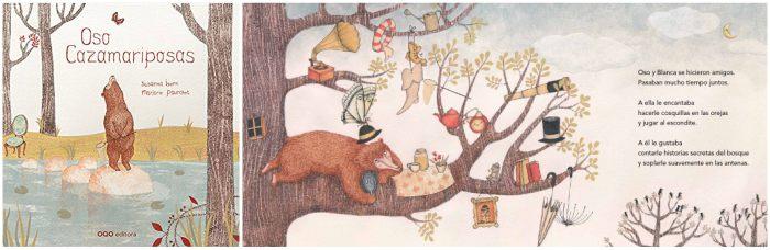 cuento infantil niños para fomentar el trabajo en equipo, oso cazamariposas isern