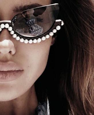 tendencia Óculos Armação decorada