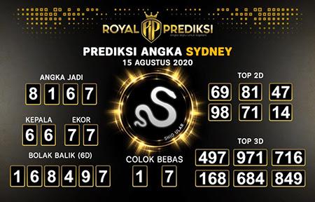 Royal Prediksi Sidney Sabtu 15 Agustus 2020