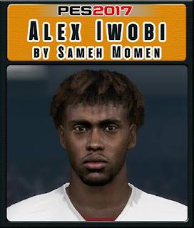 PES 2017 Faces Alex Iwobi by Sameh Momen