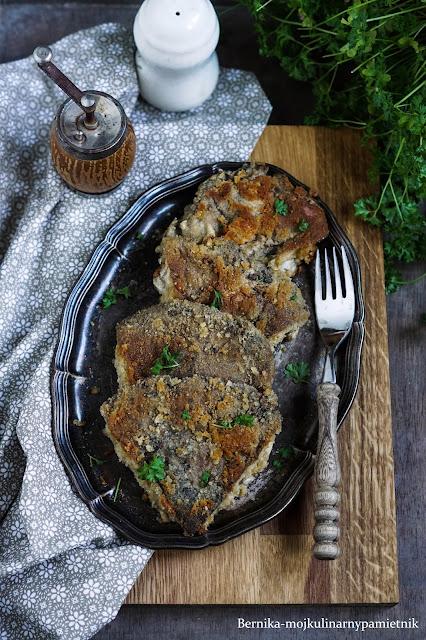 kania, grzyby, kotlet, wegetarianskie, obiad, bernika, kulinarny pamietnik