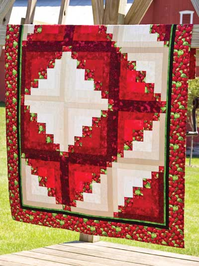 Cabin in the Orchard Quilt Free Pattern