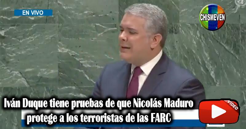 Iván Duque tiene pruebas de que Nicolás Maduro protege a los terroristas de las FARC