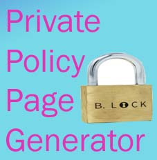 Private Policy generator for website