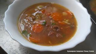 Суп-шурпа с говядиной и овощами