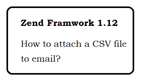 How to attach a CSV file to email - Zend