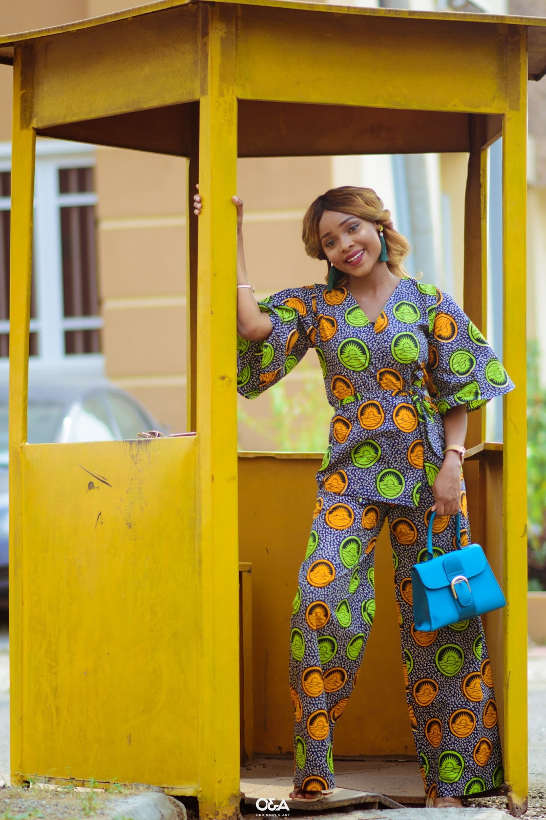how to wear ankara kimono set