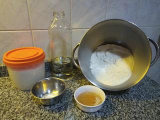 Pan de molde integral con masa madre